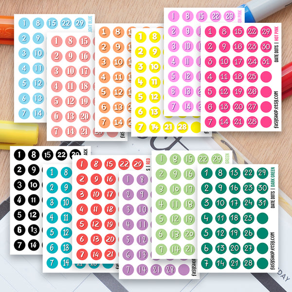 Date Dots Colourful Date Covers
