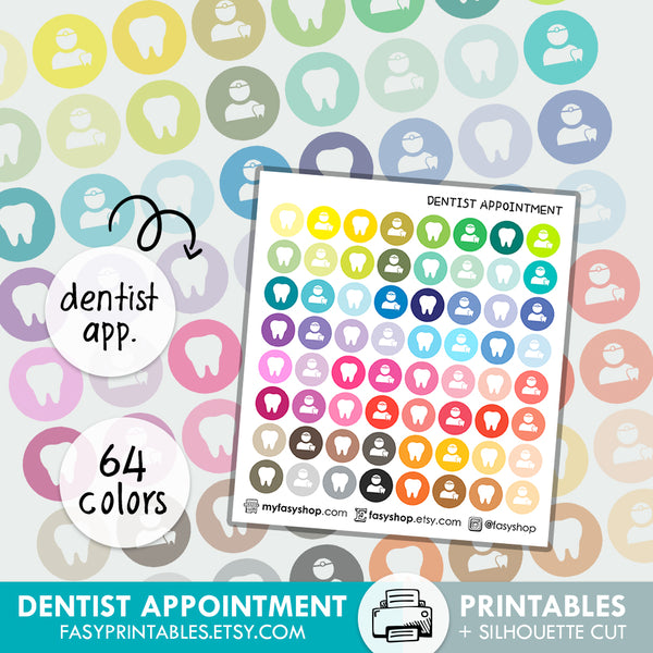 Dentist Appointment - Printable Stickers