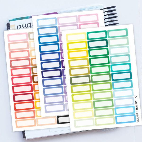 NEW! 99 Double Boxes C2 - Hourly Trio Sheets