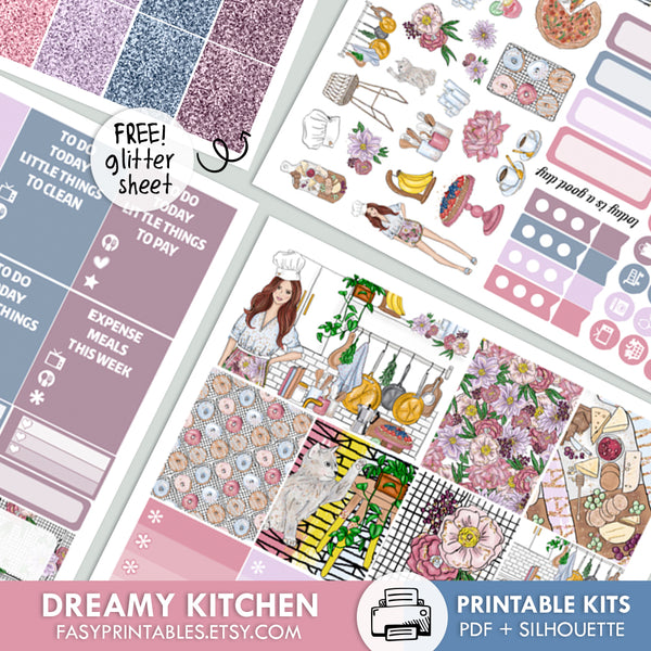 Dreamy Kitchen - Kit - Printable Stickers
