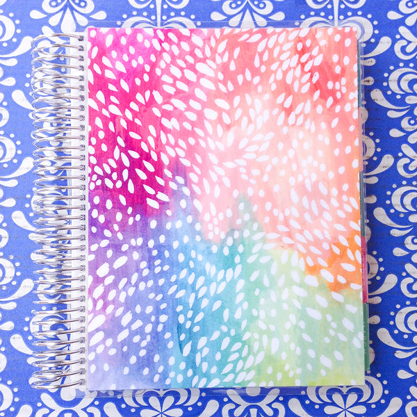 Erin Condren 2018 Life Planner - VERTICAL + COLOURFUL - painted petals