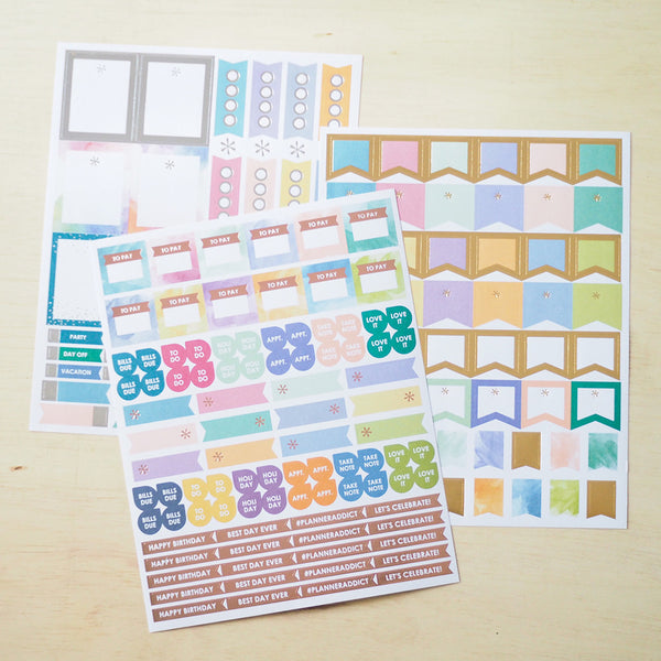 Erin Condren - Functional Flags Sticker Pack - FasyShop