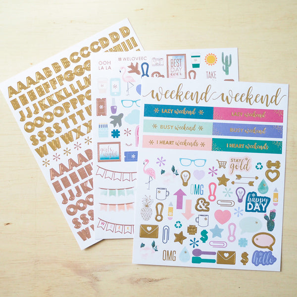 Erin Condren - Alphabet & Illustration Sticker Pack - FasyShop