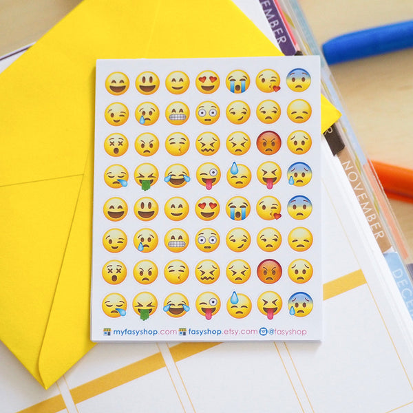 Clearance - 56 Yellow Emoji | Emotions - FasyShop