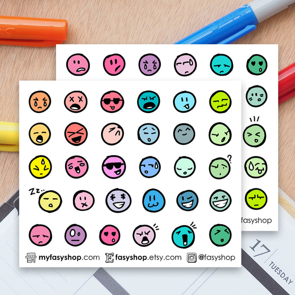 60 Colourful Emoji Doodles - FasyShop