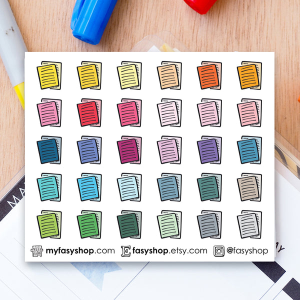 30 Essay Papers Doodles - FasyShop