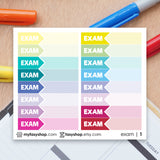 48 EXAM Hours Schedule Label - FasyShop