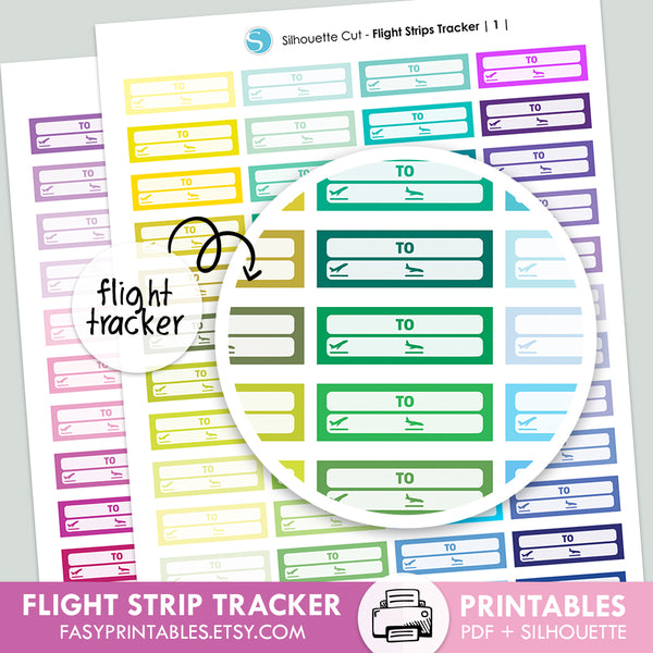 Flight Trackers - Printable Stickers