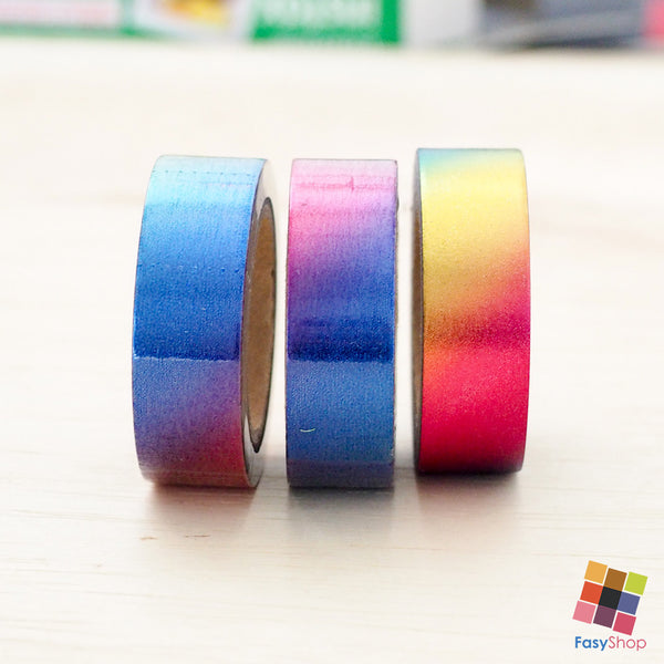 Ombre Rainbow Foiled - 10m Washitape - FasyShop