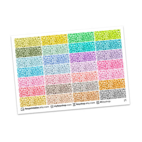 OOPS! 112 Glitter Headers - Duo Sheets