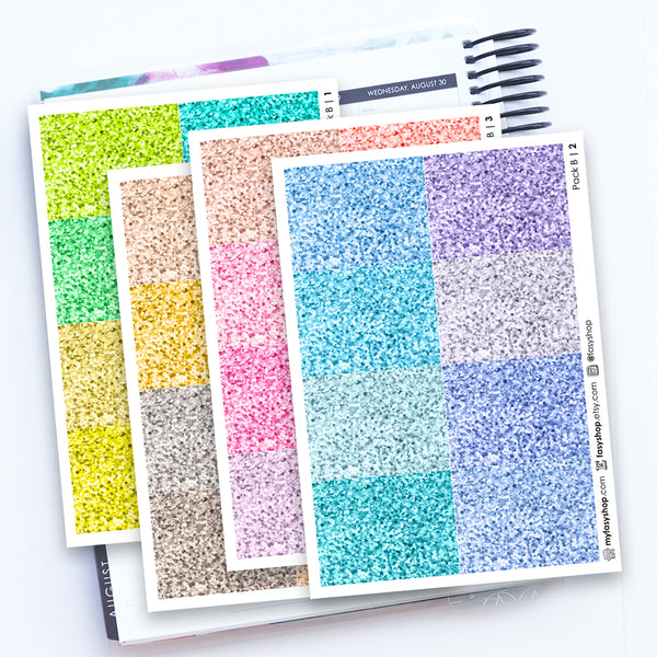256 Glitter Headers - Pack B