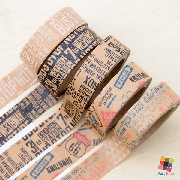 Brown Kraft Paper- 4m Washitape