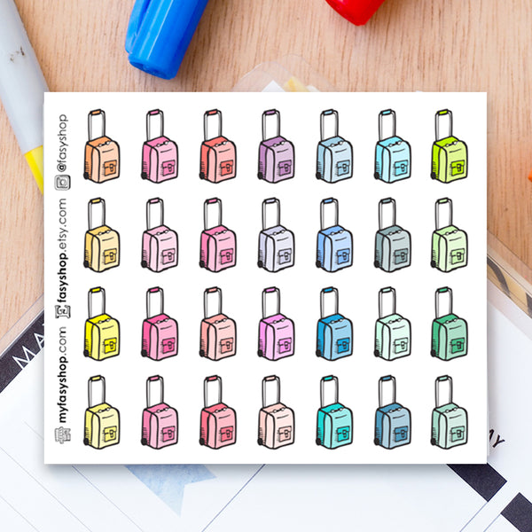 28 Luggages Doodles - FasyShop