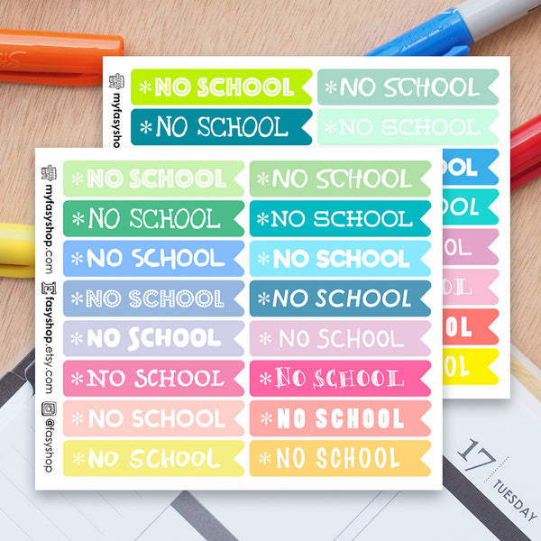 32 No School Flags - FasyShop