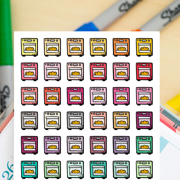 42 Kitchen Ovens Doodles - FasyShop
