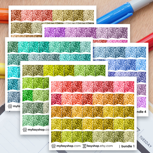 240 Glitter SMALL Page Flags Bundle