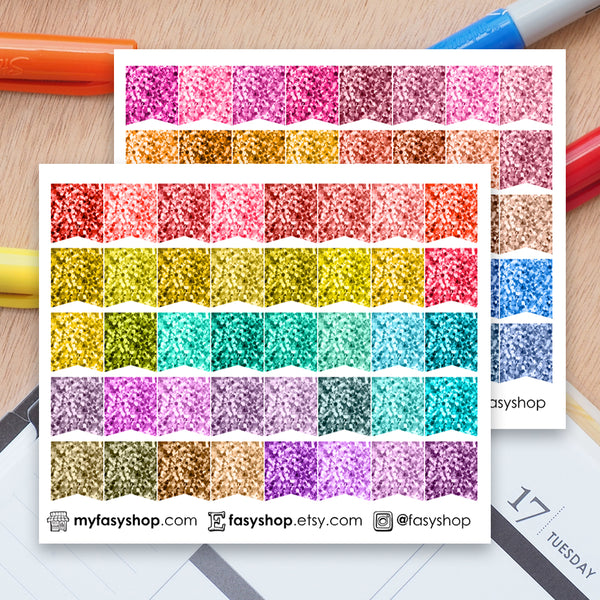 80 Glitter SMALL Page Flags - FasyShop