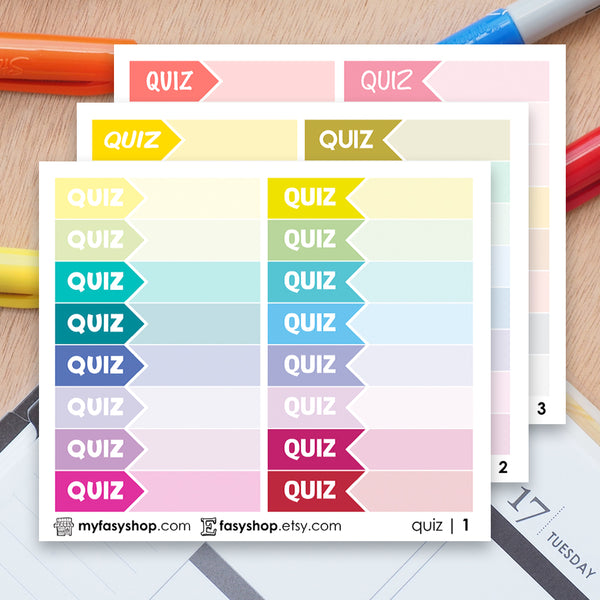 48 QUIZ Hours Schedule Label - FasyShop