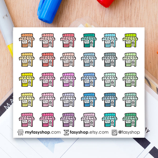 30 Shops | Business Doodles - FasyShop