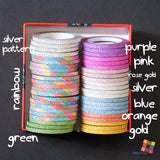 Clearance - 3 mm Skinny Glitters Washitapes - FasyShop