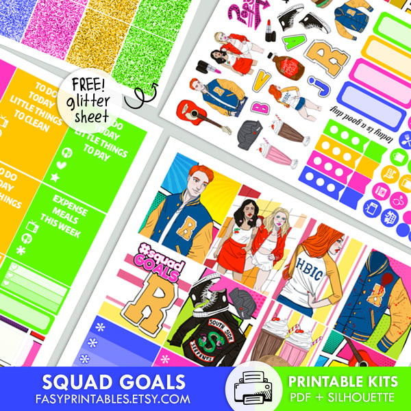 Squad Goals - Kit - Printable Stickers