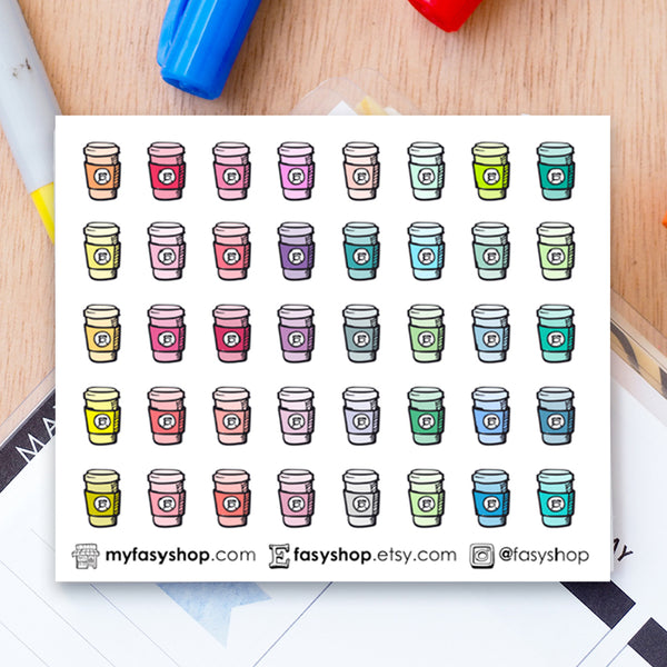 40 Starbucks Drinks | Coffee Takeaway Doodles - FasyShop
