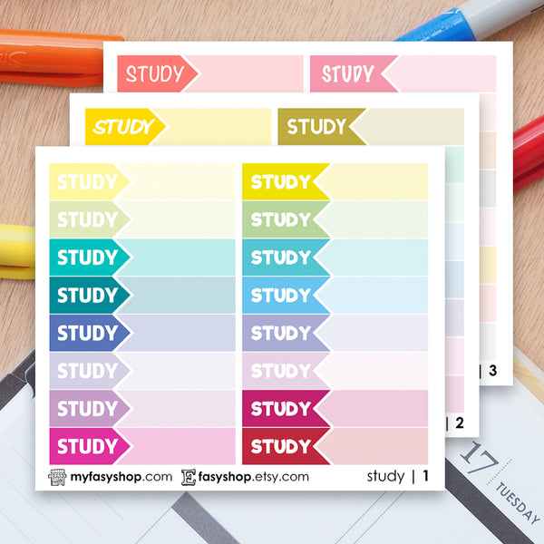 48 STUDY Hours Schedule Label - FasyShop