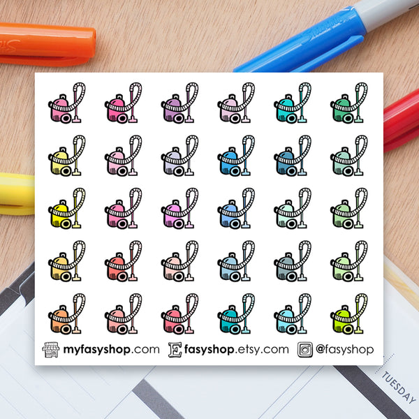 30 Mini Vacuum Cleaners Doodles - FasyShop