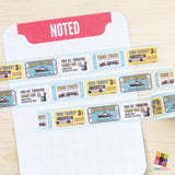 Vintage Bus Tickets - 1.5cm Washitape - FasyShop