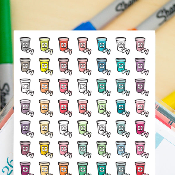 Clearance - 56 Vitamin Bottles Doodles - FasyShop