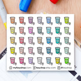 35 Vitamin Bottles Doodles - FasyShop