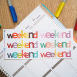 6 Weekend Sign Banner - FasyShop