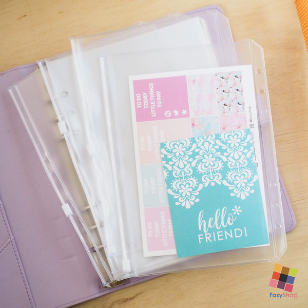 Zip Lock Bags - A5 | A6 Planner - FasyShop