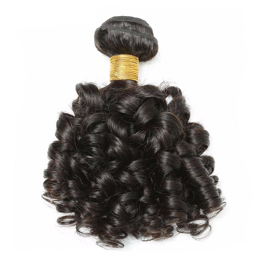 Bouncy Curly Human Hair Weft 1 Piece Peruvian Remy Hair Weave