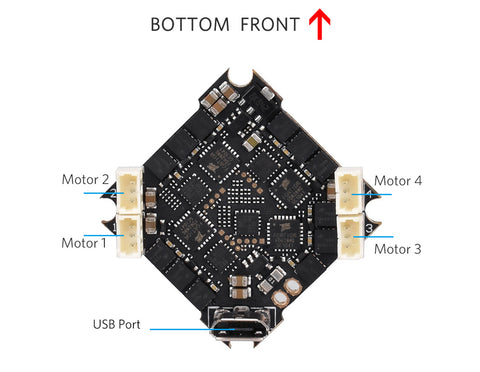 F4 2-4S AIO Brushless Flight Controller 12A (BLHeli_S)