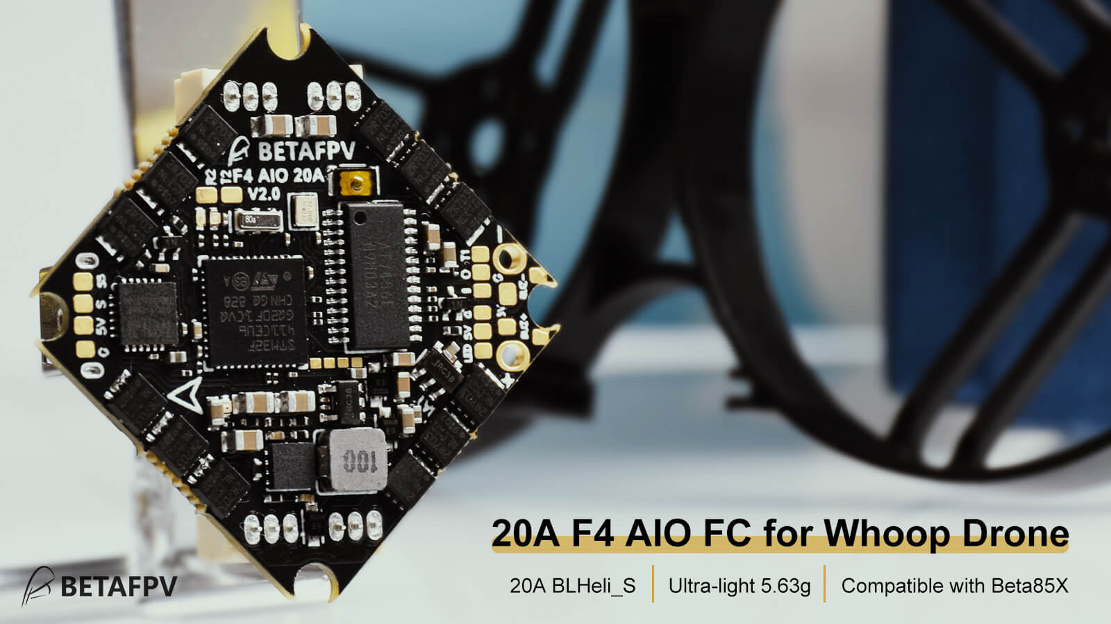 F4 1-4S AIO Brushless Flight Controller 20A(BLHeli_S)