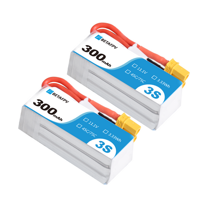 300mAh 3S 45C Lipo Battery R-Version (2PCS)