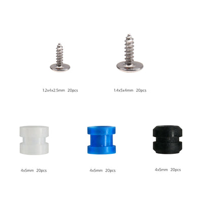 Screws and Rubber Dampers