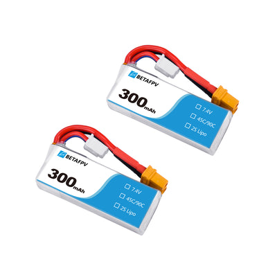 300mAh 2S 45C Lipo Battery (2PCS)