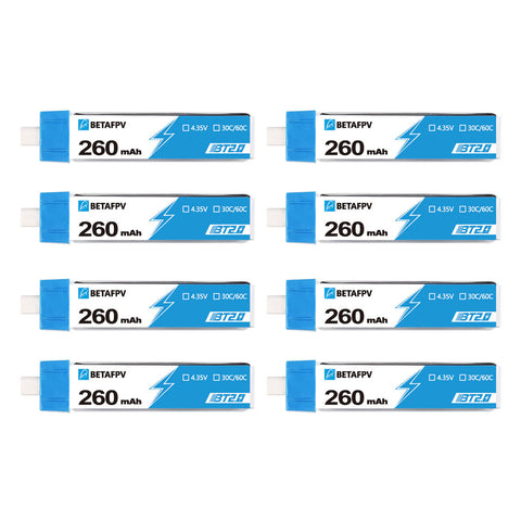 BT2.0 260mAh 1S 30C Battery (8PCS)