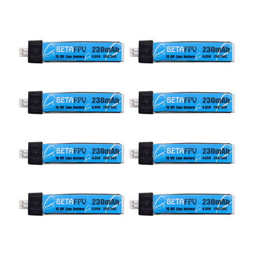 230mAh 1S Lipo HV Battery (8PCS, JST PH-1.25)