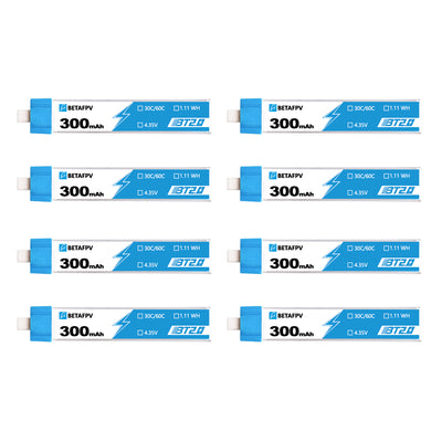BT2.0 300mAh 1S 30C Battery (8PCS)
