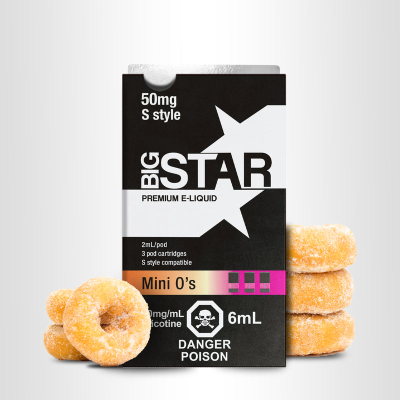 Big Star S-Pods BY COMPATIPOD 3PK 3.5%, 5%