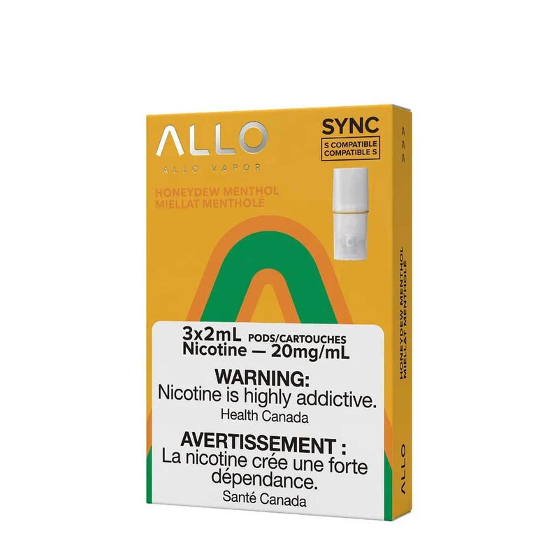 Allo Sync Pod Pack Honeydew Menthol 3/PK (STLTH COMPATIBLE)