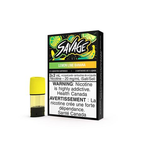 STLTH SAVAGE LEMON LIME BANANA 3PK