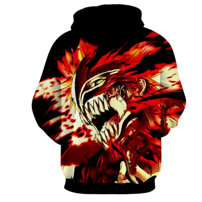 Bleach Demon Hollow Screaming Hoodie, Hoodie's, ULANI, ULANI