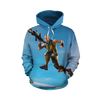 Fortnite Blue T-shirt Tank Shorts and Hoodie