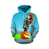 Fortnite Skeleton Light Blue T-shirt Tank Shorts and Hoodie