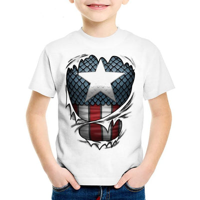 Captain America Ripped Youth TShirt 18M-10T, youth, ULANI, ULANI