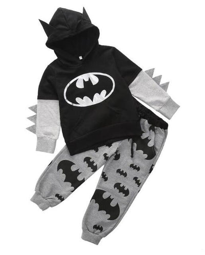 Children Clothing Set Long Sleeve 2017 Outfits Baby Boy Cartoon Batman Tops Hooded Sweatshirt Hoodies+Pants Clothes Suit, , ULANI, ULANI